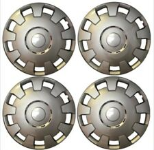 """Ensemble complet de 4 14 pouces 14 """"enjoliveurs couvre roue hub caps cap silver trim"""
