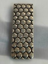 Money Clip: Tiffany & Co Rare Honeycomb Design Vintage Sterling As Found Patina