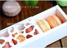 10PCS Chocolate Cookie Macaron Cupcake Hollow Box Case with Window