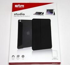 STM Studio Sleek Fitted Case For iPad Air 2 Magnetic Closure Instant ON/OF Black
