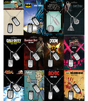 Official DOG TAGS (Film/Music/TV/Gaming Character Themes) (Necklace) Gift/Xmas