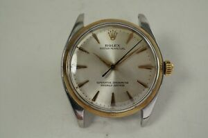 ROLEX 1002 YELLOW GOLD & STAINLESS STEEL ORIGINAL DIAL AUTOMATIC DATES 1961