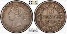Newfoundland 1872-H 10c  PCGS VF-35  Low mintage coin.