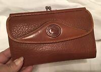 Vintage Dooney Bourke All Weather Leather Continental Wallet British Tan Brown