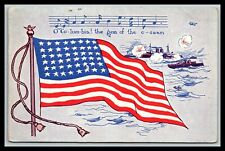 O COLUMBIA! THE GEM OF THE OCEAN AMERICAN FLAG POSTCARD 998