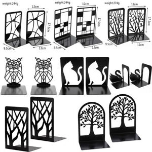 Metal Non-Slip Bookend Bracket Book Support Stand Animal Shaped Office Book S P3
