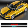 2 Stück - Rallystreifen Autofolie 10cm X 500cm / 5cm X 500cm - 3D Carbon Schwarz