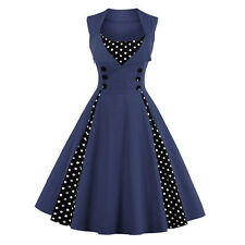 Womens Vintage 50's ROCKABILLY Vintage Party Ball Swing Dress Pin Up Housewife