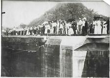 Photo - Travaux du Canal de Panama - Années 1910 - Ecluse de Miraflor -