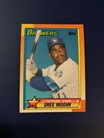 1990 Topps #57 GREG VAUGHN Rookie RC Future Star Milwaukee Brewers