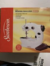Mini Sunbeam Sewing Machine SB08 Foot Pedal Not Included Double Stitch DualSpeed