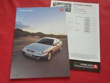 CITROEN Xantia Limousine Break SX Exclusive Activa Prospekt + Preisliste 2000