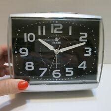 Power Brand Large Analog Silent Non-Ticking Quartz Alarm Clock Battery Operated