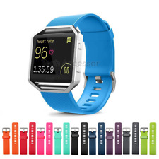 for Fitbit Blaze Strap Band Replacement Metal Buckle Silicone Watch Wristband
