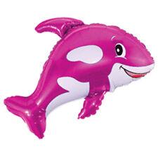 "Orca Rosa Orca Océano Globo Lámina Gigante De 35"" Decoraciones Fiesta Animales De Mar"