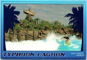 1990s 4x6 Waterpark Postcard Walt Disney World Typhoon Lagoon Surfer Ship Surf