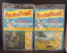 "2 Presto Magix Dry Transfer Games ""Undersea World"" & ""Animals Of Africa"" Unused!"