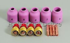 """TIG KIT Gas Lens-Cup-Collet Accessory 0.040""""-1/8"""" fit TIG Torch 9, 20, 25 Series"""