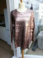 Ladies Anthology Rose Gold Metallic Jumper Plus Size 20 /22 NWT