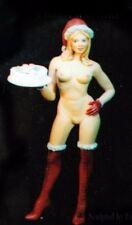 █ Resin 150mm Christmas Girl Naughty Naked Lady Figure Unpainted TS292