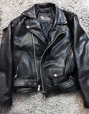 Xelement Mens Black Leather Motorcycle Biker Jacket Worn Once Size Large Brando