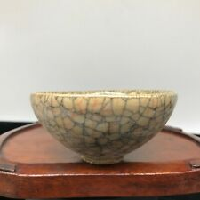 A OLD CHINESE TEA WARE CELADON ICE GUAN PORCELAIN CHINA COLLECTION BOWL CUP 20TH