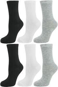 Lot 12 Pack or 6 Pair Women's Cotton Colorful Dots Stripes Argyle Crew Socks