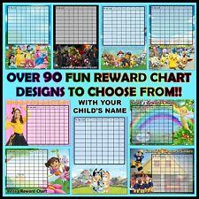 Children's Personalised Reward Chart. Kids behaviour, Chore, Toilet Training FUN