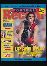 1998 AFL Football Record Fremantle Dockers vs Adelaide Crows July 24-26 unmarked