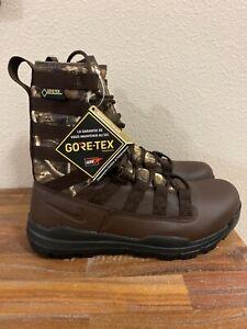 Nike SFB Waterproof Boot Gen 2 Realtree GoreTex Leather Brown AJ9277-220 Men 8.5
