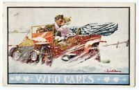 040413FP Bernhardt Wahl Romance Postcard Lovers in Automobile Who Cares