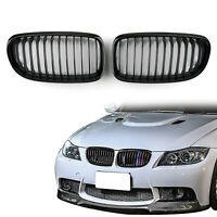 Gloss Black Front Kidney Grill Mesh Grille Nose For BMW E90 E91 LCI 2009-12 T05