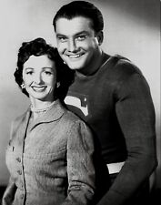 RARE STILL  SUPERMAN GEORGE REEVES OFF CAMERA WITH LOIS CLOSEUP