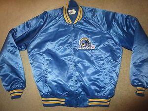 Los Angeles Rams Chalkline Satin NFL Football Jacket LG L Vintage