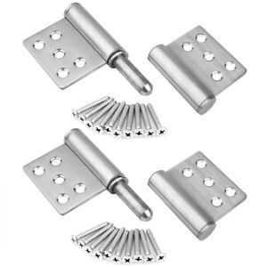 2 Packs 5.19×4 inches Lift Off Hinge Flag Hinges, Stainless Steel 304 Detachable