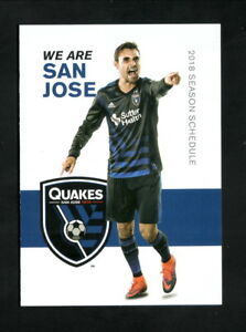San Jose Earthquakes--2018 Pocket Schedule--MLS