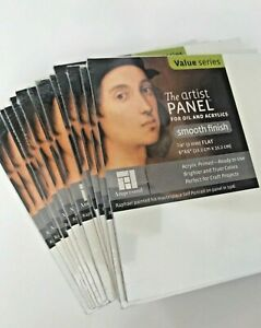 LOT of 10! THE ARTIST PANEL PRIMED SMOOTH 1/8in. X 6in. X 6in. AMPERSAND APS060