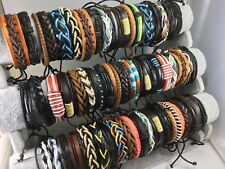 30 Pcs Mixed Color Retro Cuff Leather Bracelets Fashion Party Jewelry WHOLESALE