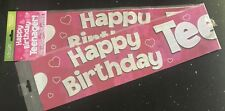 Girls 13th Birthday Banner -TEENAGER * PINK * - Can be split into 3 - 13th TEEN