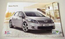 Toyota . Auris . Toyota Auris . New Auris . February 2011 Sales Brochure