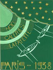 """""""NOËL GALERIES LAFAYETTE PARIS - 1938 (JOUETS)"""" Maquette gouache originale"""