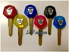 Blank Uncut Key for YAMAHA YZF R1 R6 FZ6S FZ1 XJR Yellow,Pink,Black,Red,Blue.