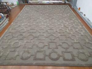 Indian Handmade Tufted Bespoke Custom Modern Soft Wool Art Silk Carpet Area Rug