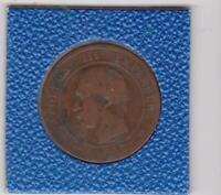 10 centimes Frankreich 1857 A Paris Napoleon III France