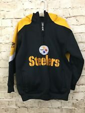 NFL Pittsburgh Steelers Youth Sweatshirt sz Small 8 Yellow Hoodie Team Apparel