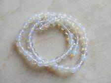 65pz/filo  perline pietre in opale opal tondo 6mm bijoux
