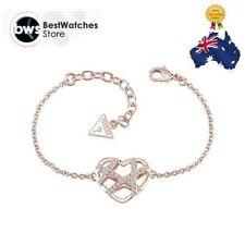 "Ladies GUESS UBB61030-L ""Wrap Me Up"" Rose Gold Plated Swarovski Crystal Bracelet"