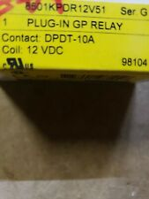 SQUARE D Gen Purpose Relay,8 Pin,Octal,12VDC, 8501KPDR12V51