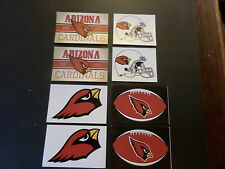 LOT OF 8- ARIZONA CARDINALS NFL APPROVED BRAND NEW STICKERS