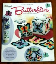 New Butterflies Plastic Canvas Leaflet  Needlecrart 8 Projects Coasters ETC.